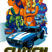 LIMITED EDITION CLUTCH Movie Poster by JUSTIN HAMPTON!